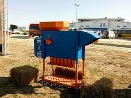 Aerodynamic grain separator